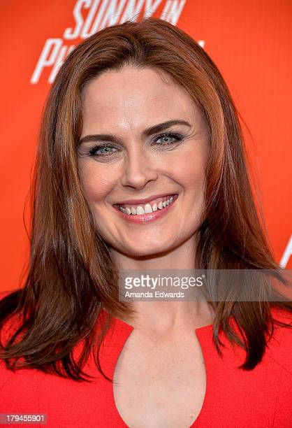 Actress Emily Deschanel arrives at the FXX Network launch party featuring the season premieres of 'It's Always Sunny In Philadelphia' and 'The...