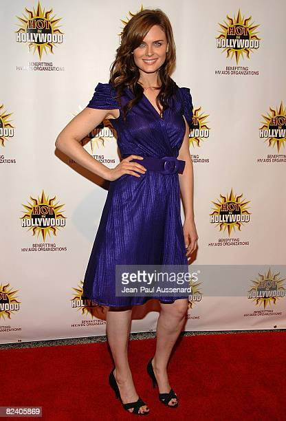 Actress Emily Deschanel arrives at the third annual Hot in Hollywood held at Avalon on August 16, 2008 in Hollywood, California.