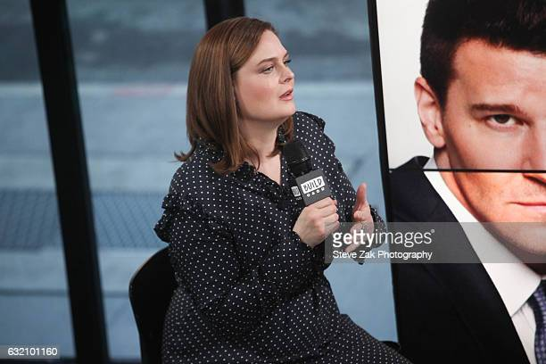 Actress Emily Deschanel attends Build Series to discuss her show Bones at Build Studio on January 19 2017 in New York City