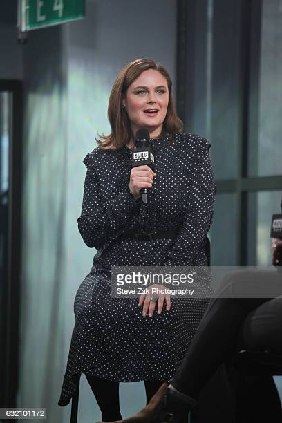 Actress Emily Deschanel attends Build Series to discussher show Bones at Build Studio on January 19 2017 in New York City