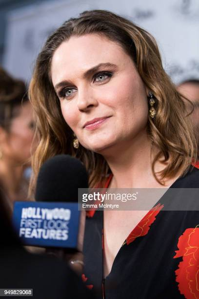 Actress Emily Deschanel attends 'CATstravaganza featuring Hamilton's Cats' on April 21, 2018 in Hollywood, California.
