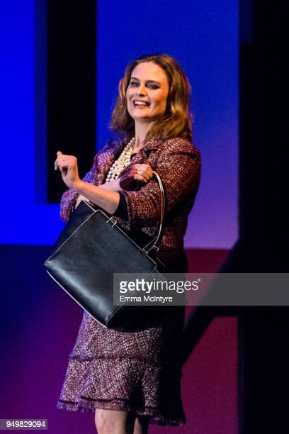 Actress Emily Deschanel attends 'CATstravaganza featuring Hamilton's Cats' on April 21 2018 in Hollywood California