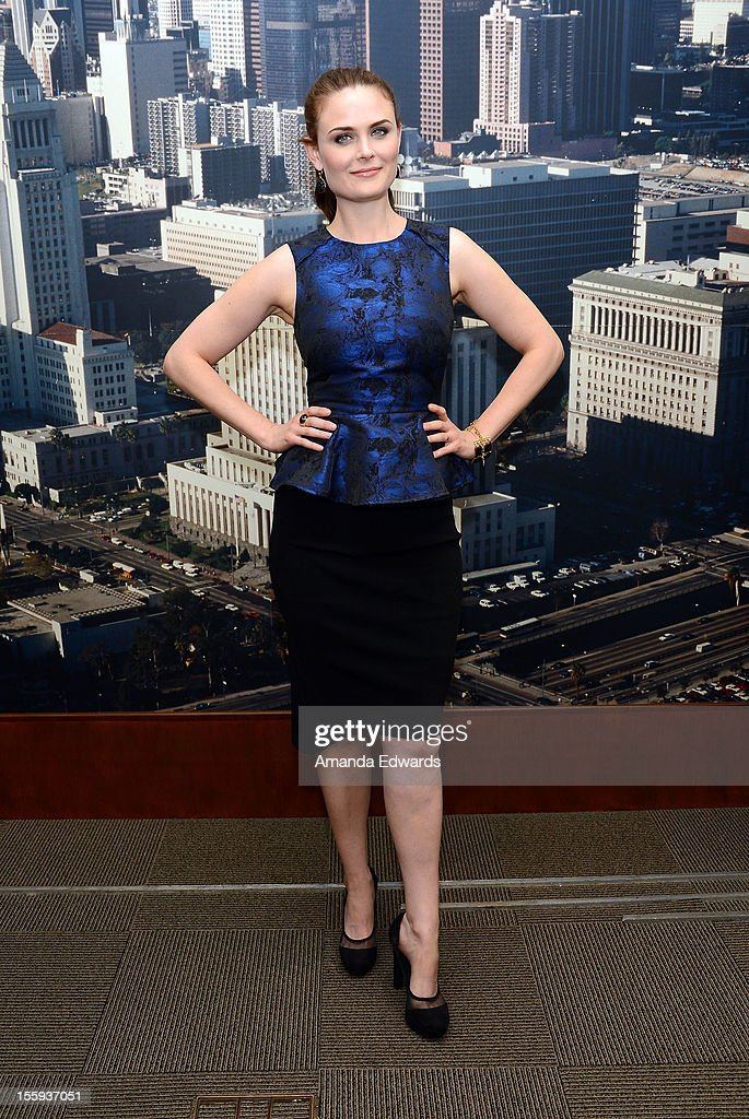 Actress Emily Deschanel attends FOX's 'Bones' City of Los Angeles City Council Presentation at Los Angeles City Hall on November 9, 2012 in Los Angeles, California.