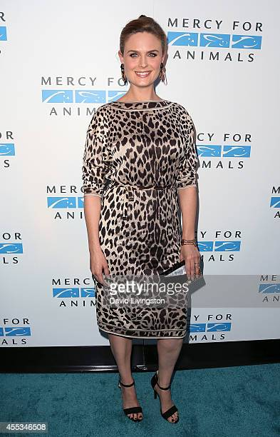 Actress Emily Deschanel attends Mercy For Animals 15th Anniversary Gala at The London on September 12 2014 in West Hollywood California