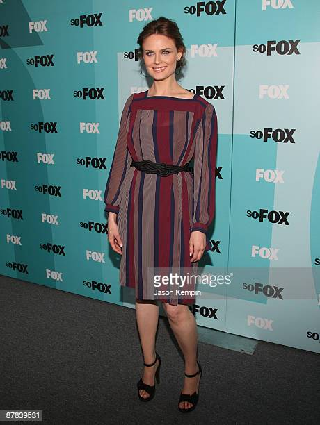 Actress Emily Deschanel attends the 2009 FOX UpFront after party at the Wollman Rink in Central Park on May 18 2009 in New York City