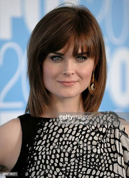 Actress Emily Deschanel attends the 2010 FOX Upfront after party at Wollman Rink Central Park on May 17 2010 in New York City