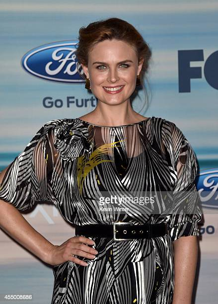 Actress Emily Deschanel attends the 2014 FOX Fall EcoCasino party at The Bungalow on September 8 2014 in Santa Monica California