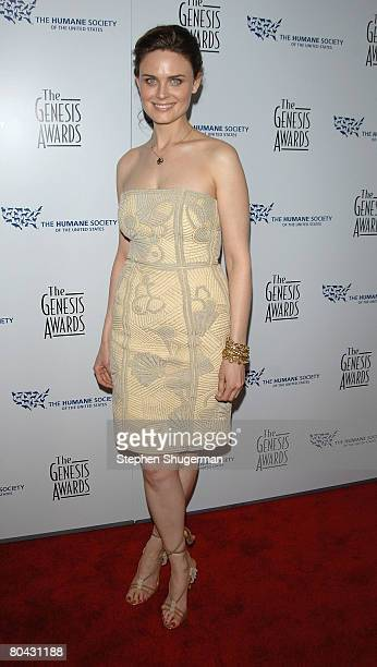 Actress Emily Deschanel attends the 22nd annual Genesis Awards at the Beverly Hilton March 29 2008 in Beverly Hills California