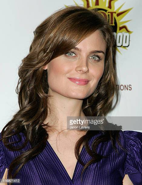 Actress Emily Deschanel attends the 3rd annual Hot In Hollywood event at The Avalon on August 16 2008 in Hollywood California