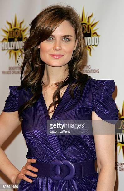 """Actress Emily Deschanel attends the 3rd annual """"Hot In Hollywood"""" event at The Avalon on August 16, 2008 in Hollywood, California."""
