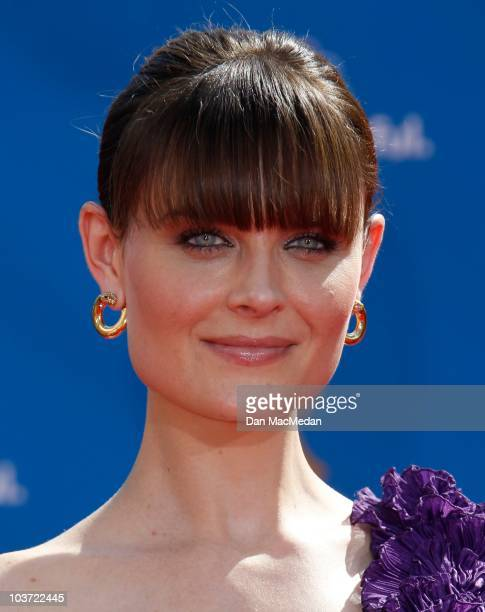 Actress Emily Deschanel attends the 62nd Annual Primetime Emmy Awards at Nokia Theatre Live LA on August 29 2010 in Los Angeles California