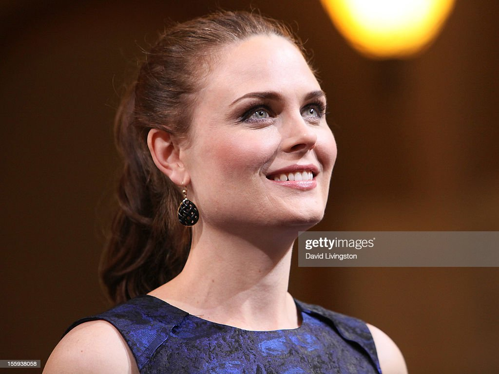 Actress Emily Deschanel attends the LA City Council Chambers proclamation ceremony for Fox's 'Bones' at City Hall Council Chambers on November 9, 2012 in Los Angeles, California.