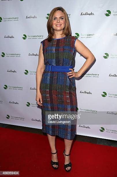 Actress Emily Deschanel attends the Conscientious Table event at Crossroads Kitchen on September 29 2014 in Los Angeles California