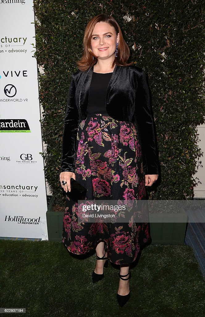 Actress Emily Deschanel attends the Farm Sanctuary's 30th Anniversary Gala at the Beverly Wilshire Four Seasons Hotel on November 12, 2016 in Beverly Hills, California.