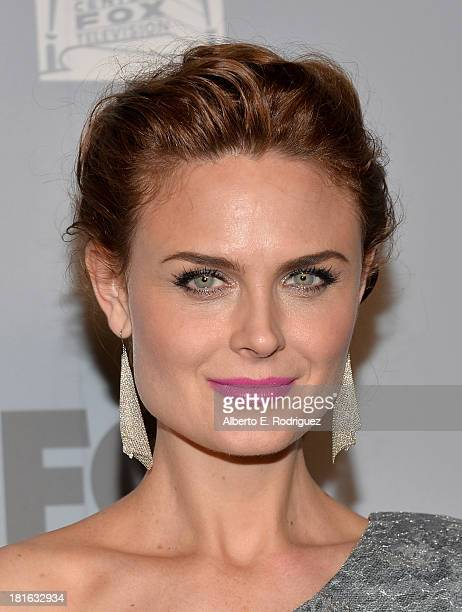 Actress Emily Deschanel attends the FOX Broadcasting Company Twentieth Century FOX Television and FX Post Emmy Party at Soleto on September 22 2013...