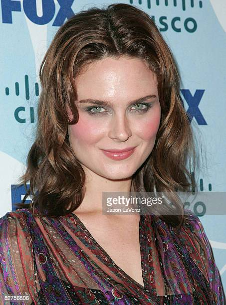 Actress Emily Deschanel attends the Fox fall eco-casino party at The London on September 8, 2008 in West Hollywood, California.