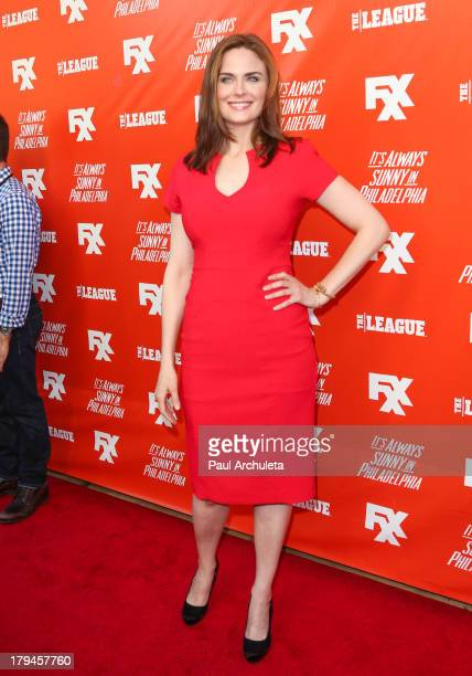 Actress Emily Deschanel attends the FXX Network launch party featuring the season premieres of 'It's Always Sunny In Philadelphia' and 'The League'...