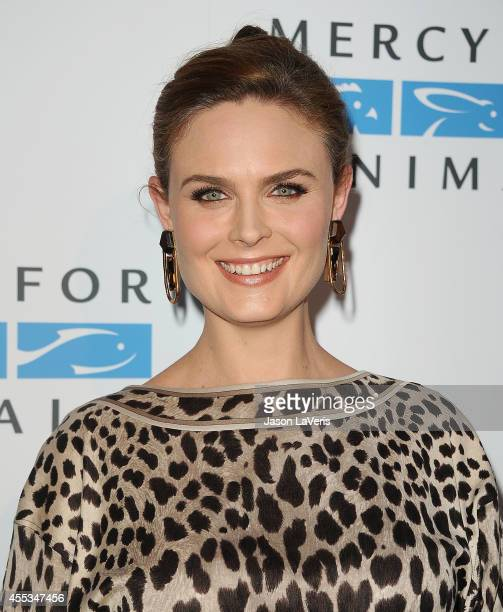 Actress Emily Deschanel attends the Mercy For Animals 15th anniversary gala at The London on September 12 2014 in West Hollywood California