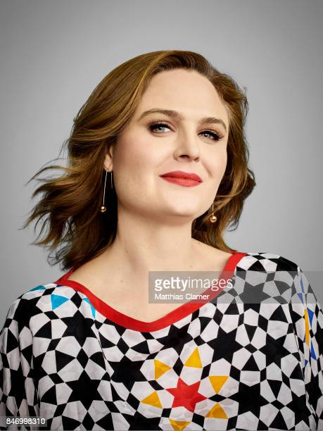 Actress Emily Deschanel from 'Bones' is photographed for Entertainment Weekly Magazine on July 22 2016 at Comic Con in the Hard Rock Hotel in San...