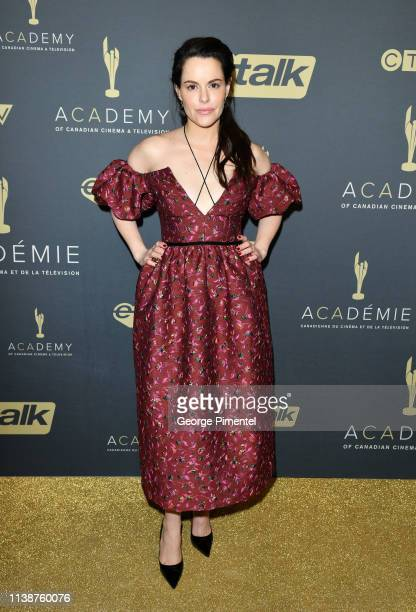 Actress Emily Hampshire attends Canadian Screen Awards: The CTV Gala Honouring Excellence In Fiction Programming at Heritage Court, Exhibition Place...