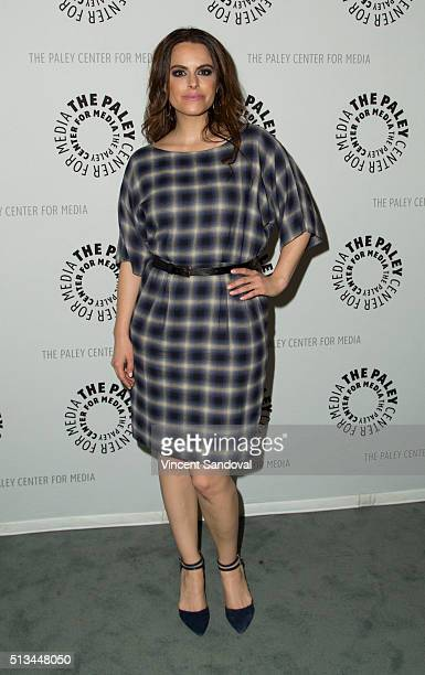 """Actress Emily Hampshire attends Paley Center For Media Presents PaleyLive LA: An evening with """"Schitt's Creek"""" at The Paley Center for Media on March..."""