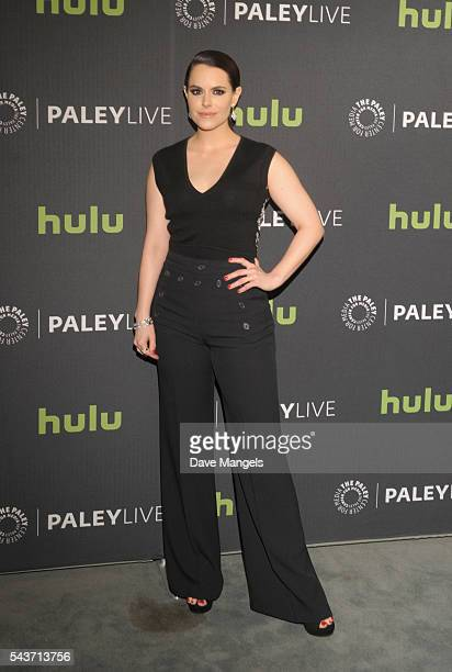 """Actress Emily Hampshire attends PaleyLive LA: An Evening With """"12 Monkeys"""" at The Paley Center for Media on June 29, 2016 in Beverly Hills,..."""