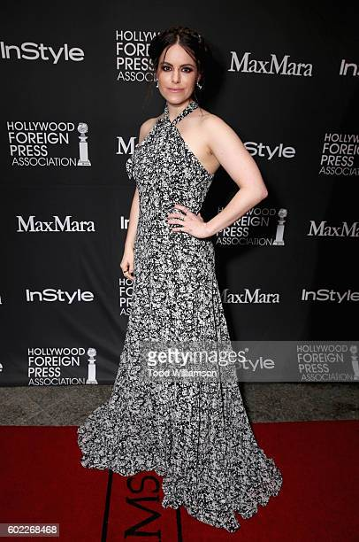 Actress Emily Hampshire attends the Hollywood Foreign Press Association and InStyle's annual celebration of the Toronto International Film Festival...