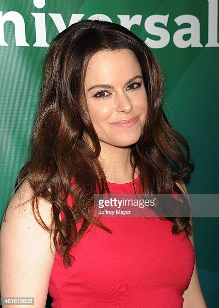Actress Emily Hampshire attends the NBCUniversal 2015 Press Tour at the Langham Huntington Hotel on January 15 2015 in Pasadena California