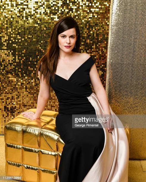 Actress Emily Hampshire poses inside the 2019 Canadian Screen Awards Portrait Studio held at Sony Centre for the Performing Arts on March 31, 2019 in...