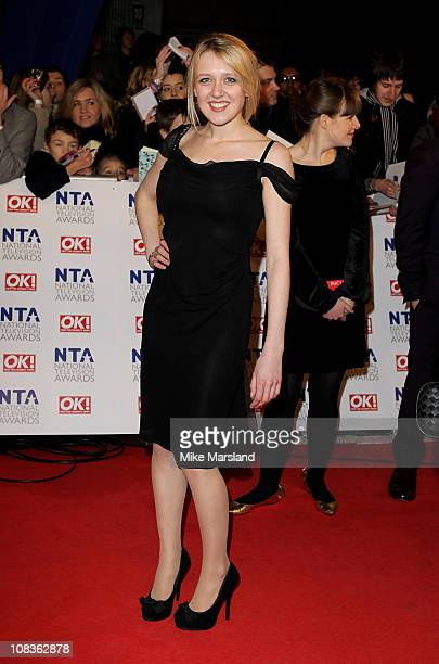 Actress Emily Head attends the The National Television Awards at the O2 Arena on January 26 2011 in London England