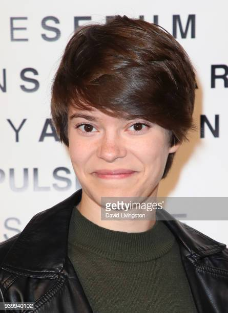 Actress Emily Hinkler attends Art with a Cause hosted by Shaun Ross Aureta benefiting the Freedom United Foundation for the victims of human...