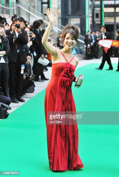 Actress Emily Kaiho arrives at the 23rd Tokyo International Film Festival Opening Ceremony at Roppongi Hills on October 23 2010 in Tokyo Japan