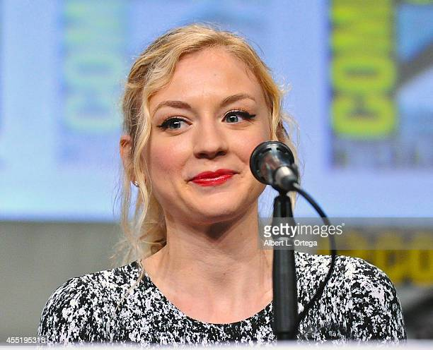 Actress Emily Kinney at AMC's 'The Walking Dead' Panel on Friday Day 2 of ComicCon International 2014 held at San Diego Convention Center on July 25...