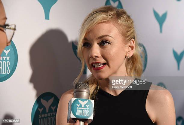 Actress Emily Kinney attends The 7th Annual Shorty Awards on April 20 2015 in New York City