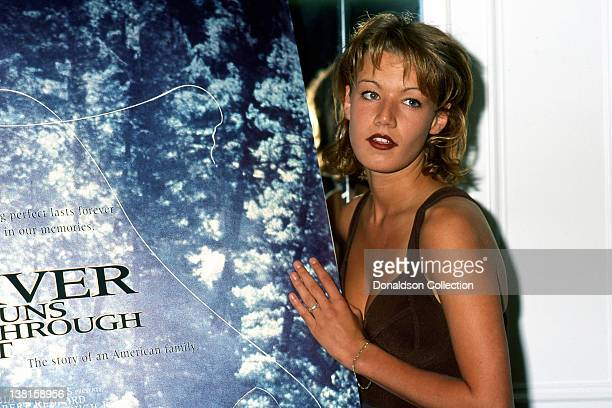 Actress Emily Lloyd attends the premiere of the movie in which she appeared 'A Rivers Runs Through It in Los Angeles California