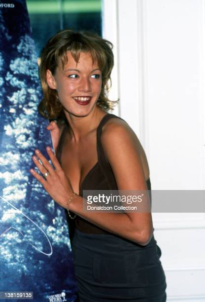 Actress Emily Lloyd attends the premiere of the movie in which she appeared 'A Rivers Runs Through It in October 1992 in Los Angeles California