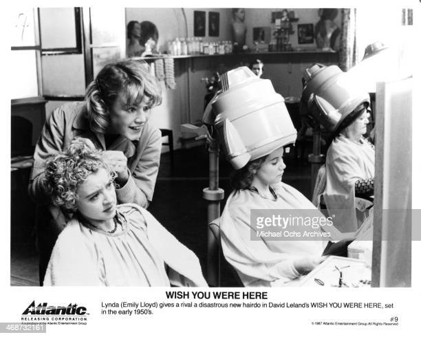 Actress Emily Lloyd on set of the movie Wish You Were Here circa 1987