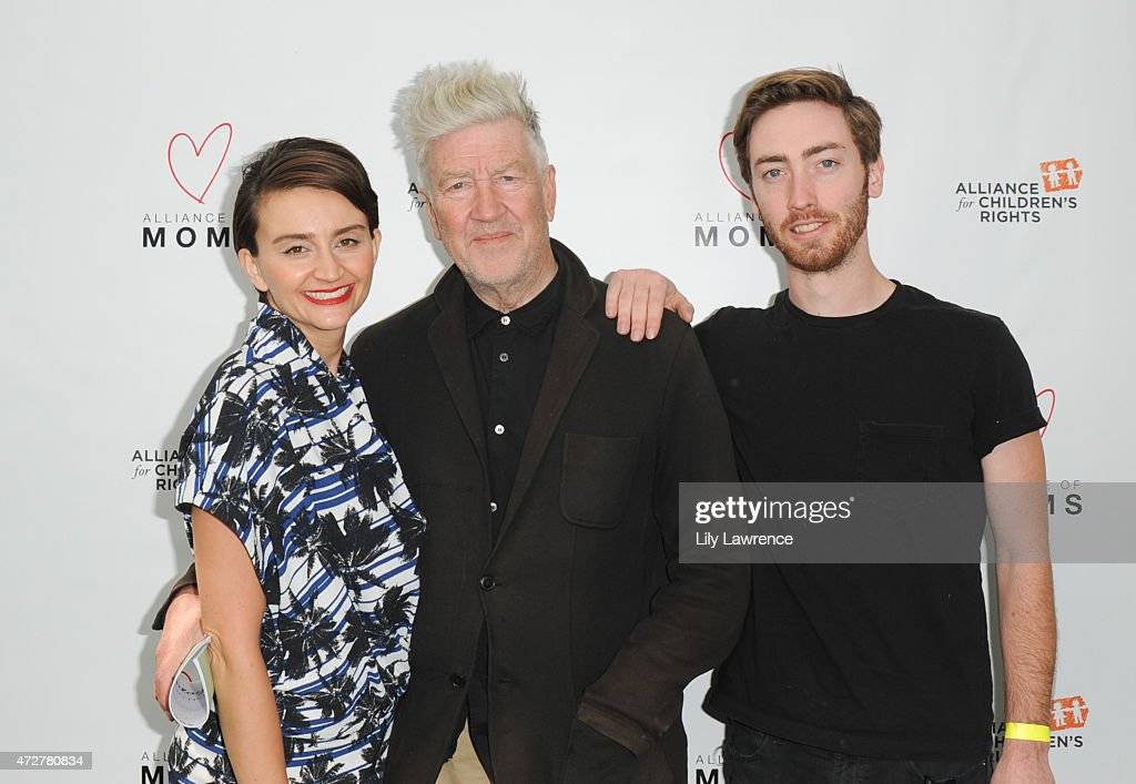 Actress Emily Lynch, director David Lynch and son Riley Lynch attend Alliance Of Moms Giant Playdate on May 9, 2015 in Los Angeles, California.