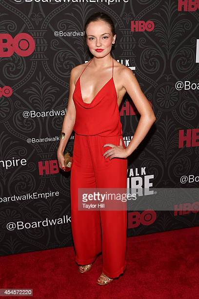 Actress Emily Meade attends the final season premiere of 'Boardwalk Empire' at Ziegfeld Theatre on September 3 2014 in New York City