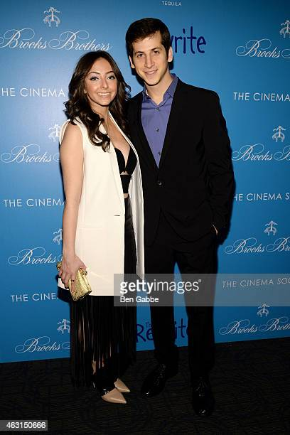 """Actress Emily Morden and actor Steven Kaplan attend The Cinema Society and Brooks Brothers Host A Screening of """"The Rewrite"""" at Landmark Sunshine..."""
