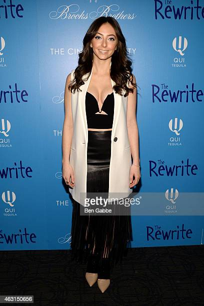 """Actress Emily Morden attends The Cinema Society and Brooks Brothers Host A Screening of """"The Rewrite"""" at Landmark Sunshine Cinema on February 10,..."""