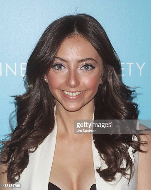 """Actress Emily Morden attends The Cinema Society and Brooks Brothers host a screening of """"The Rewrite"""" at Landmark's Sunshine Cinema on February 10,..."""