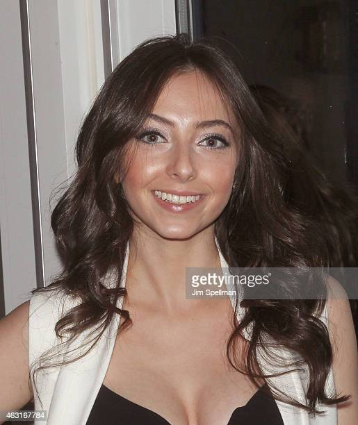 """Actress Emily Morden attends The Cinema Society and Brooks Brothers host a screening of """"The Rewrite"""" - after party at The Jimmy at the James Hotel..."""