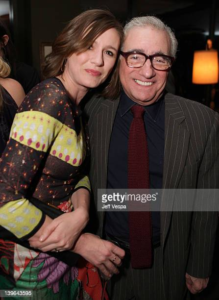 Actress Emily Mortimer and director Martin Scorsese attend the GREY GOOSE/RADD/Paramount preOscars party at Soho House on February 23 2012 in West...