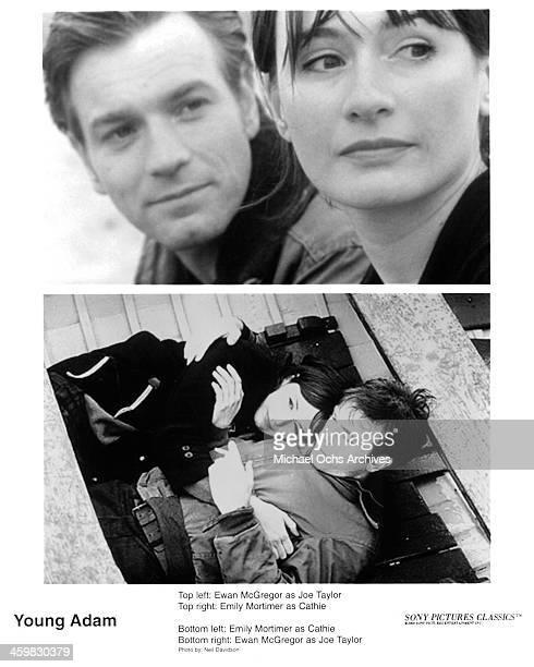 Actress Emily Mortimer and Ewan McGregor on set actress Emily Mortimer and Ewan McGregor on set of the movie Young Adam circa 2003