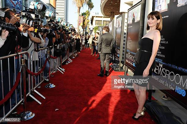 Actress Emily Mortimer arrives at HBO's New Series 'Newsroom' Los Angeles Premiere at ArcLight Cinemas Cinerama Dome on June 20 2012 in Hollywood...