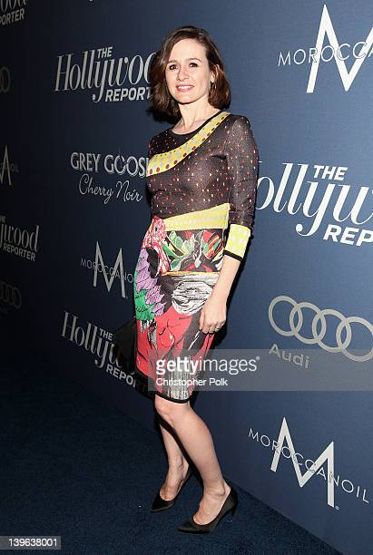 Actress Emily Mortimer arrives at The Hollywood Reporter's Nominees' Night 2012 A Celebration of the 84th Annual Academy Awards at the Getty House on...