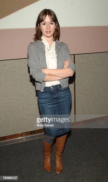 Actress Emily Mortimer attends a lunch for 'Lars And The Real Girl' at the Four Seasons Restaurant on December 11 2007 in New York City