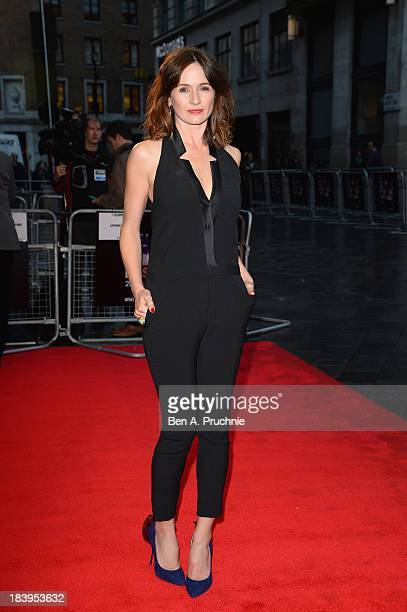 Actress Emily Mortimer attends a screening of Doll and Em during the 57th BFI London Film Festival at Odeon West End on October 10 2013 in London...
