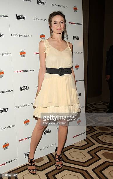 Actress Emily Mortimer attends a screening of Transsiberian at the Tribeca Grand Screening Room July 8 2008 in New York City